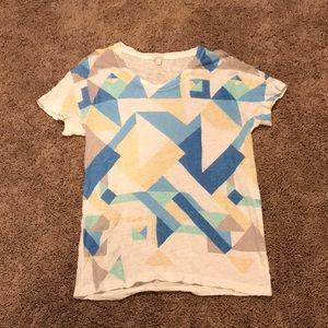 J Crew geometric shape tee size L